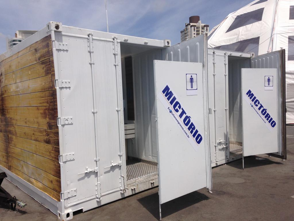 Banheiros em Container para Eventos - Mictórios